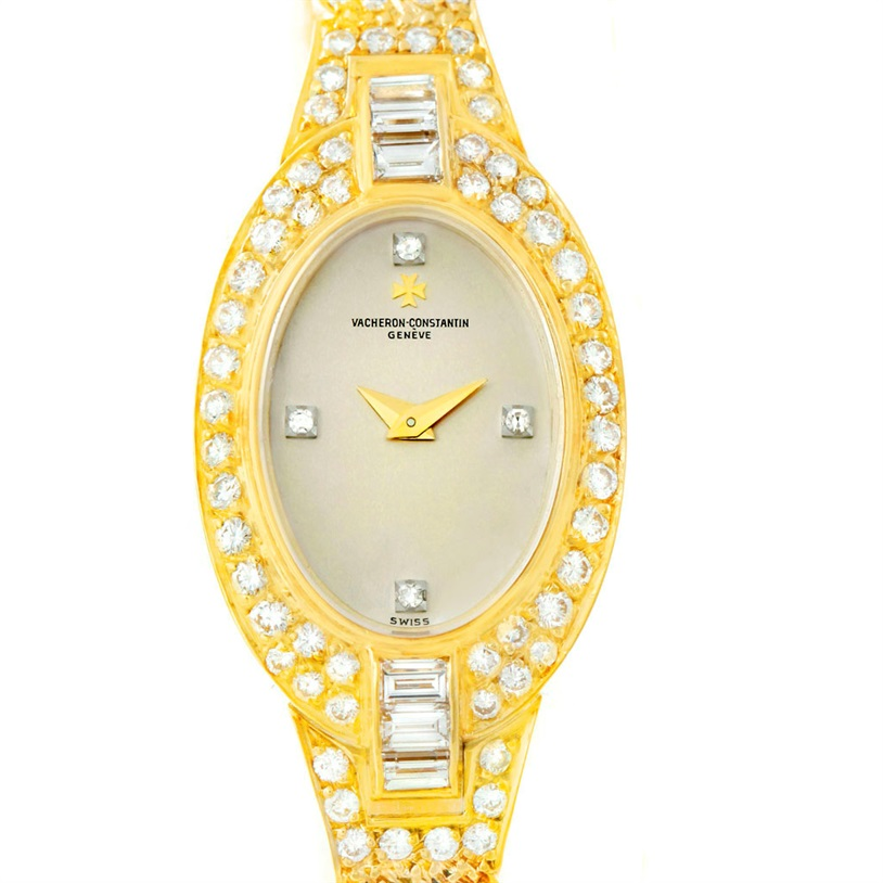 "Image of ""Vacheron & Constantin 18K Yellow Gold & Diamond Vintage 18mm Womens"""