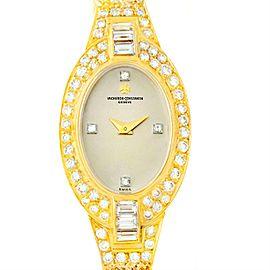 Vacheron & Constantin 18K Yellow Gold & Diamond Vintage 18mm Womens Watch