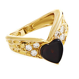 Van Cleef & Arpels 18K Yellow Gold Diamond Band Ring Size 4.75