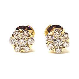 Van Cleef & Arpels 18K Yellow Gold Fleurette Diamond Earrings