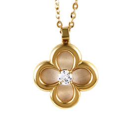 Van Cleef & Arpels 18K Yellow Gold Diamond Pendant Necklace