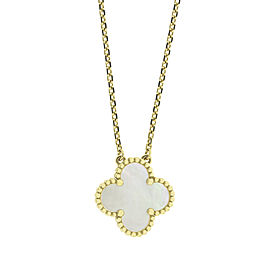 Van Cleef & Arpels Yellow Gold Vintage Alhambra Necklace