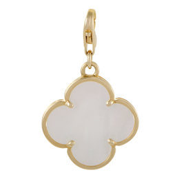 Van Cleef & Arpels 18K Yellow Gold Mother of Pearl Alhambra Pendant