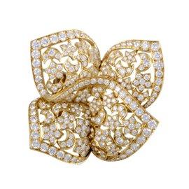 Van Cleef & Arpels Sirius 18k Yellow Gold 8.50ct. Diamond Pave Brooch