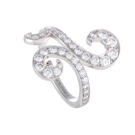 Van Cleef & Arpels de Paradis 18K White Gold Diamond Ring Size 6
