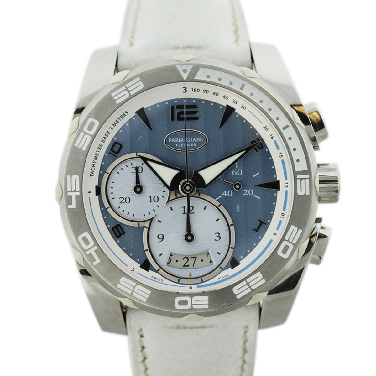 "Image of ""Parmigiani Pershing Stainless Steel Chronograph 45mm Mens Watch"""