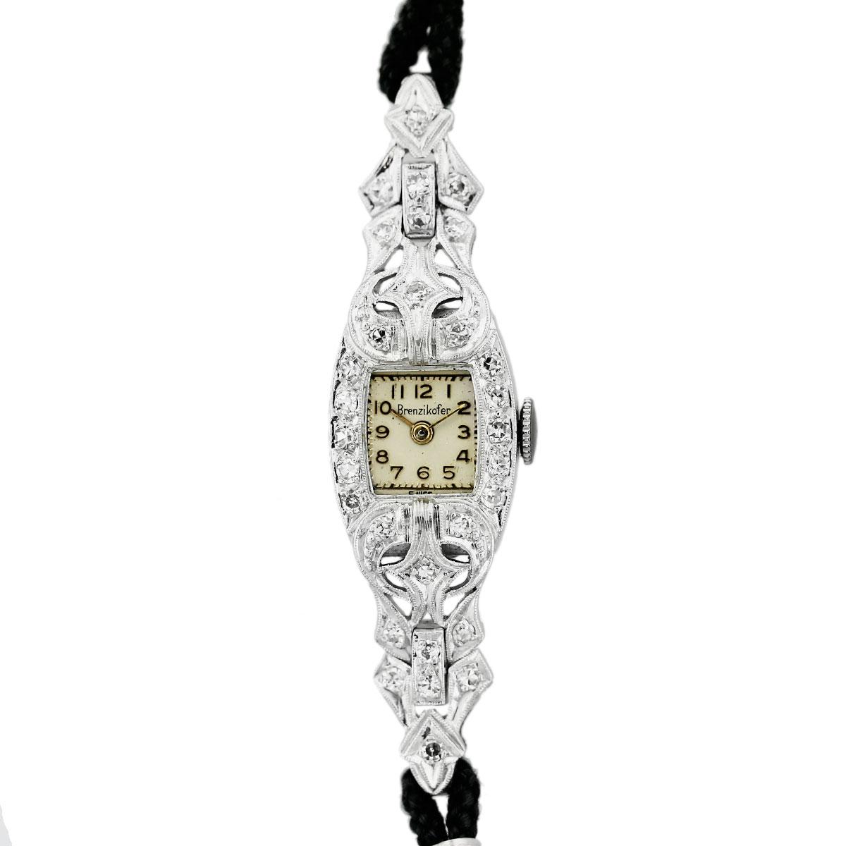 "Image of ""Brenzikofer Platinum Vintage 14.20mm Womens Watch"""