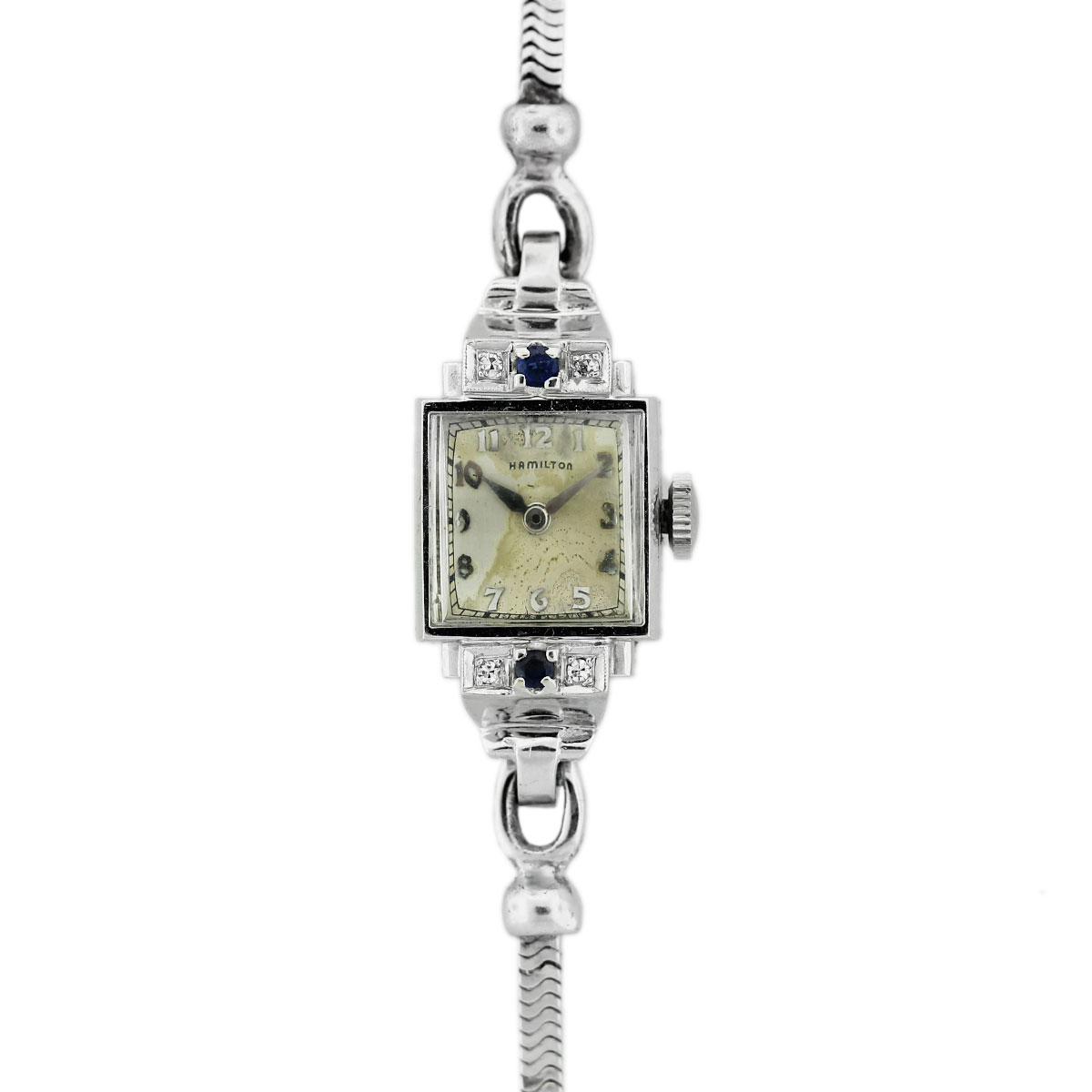 "Image of ""Hamilton 14K White Gold Vintage 14.30mm Womens Watch"""
