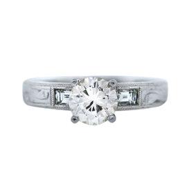 Platinum Diamond Engagement Ring Size 6.25