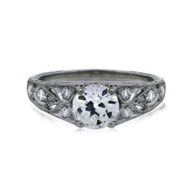 Platinum 1.28ct Diamond Engagement Ring Size 6.5