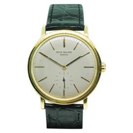 Patek Phillipe 18K Yellow Gold & Leather 34mm Watch