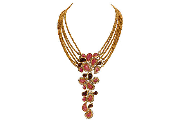 "Image of ""1980s Christian Dior Runway Collar Necklace"""