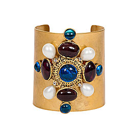 Chanel Blue Maltese Gripoix Cuff