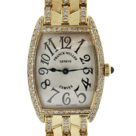 Franck Muller Curvex 1752 QZ 18K Yellow Gold 24mm Womens Watch