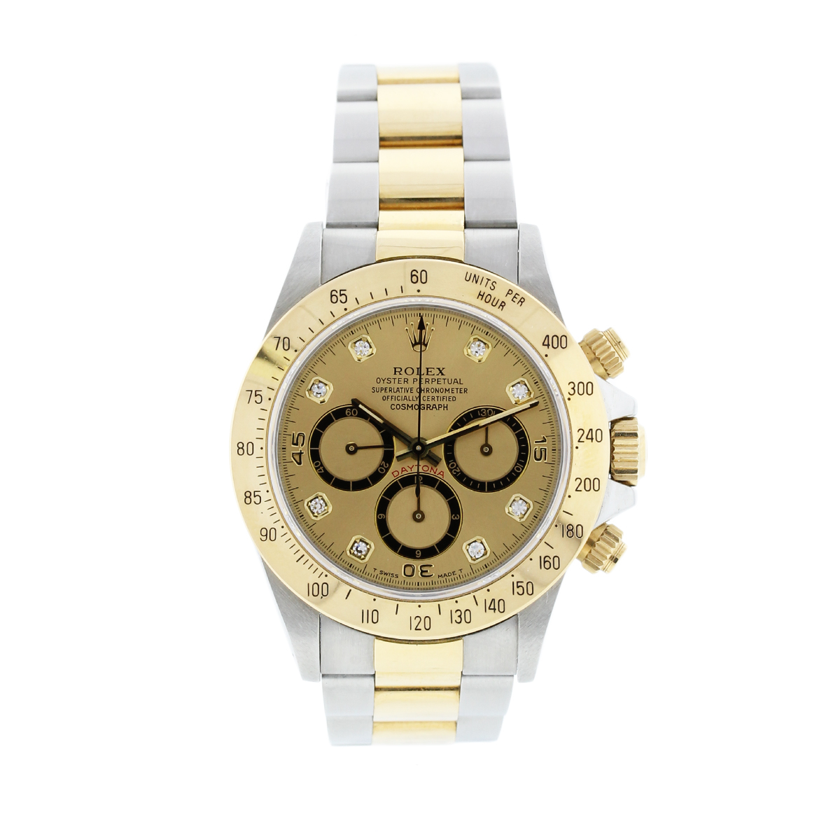 "Image of ""Rolex Daytona 16523 Two Tone Gold & Stainless Steel 40mm Mens Watch"""