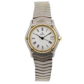 Ebel Wave Classic 183908 Stainless Steel & 18K Yellow Gold 26mm Watch