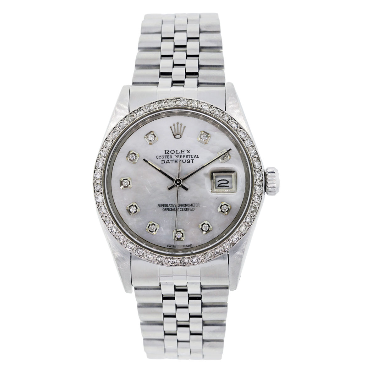 """Image of """"Rolex Datejust 6916 Stainless Steel with Diamond Automatic 36mm Mens"""""""