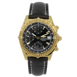 Breitling Windrider Chronograph K13352 18K Yellow Gold 38mm Mens Watch