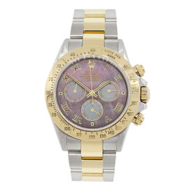 Rolex Daytona 116523 Two Tone Mother Of Pearl Dial Watch