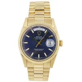 Rolex Presidential Day Date 118238 Gold Blue Dial Watch