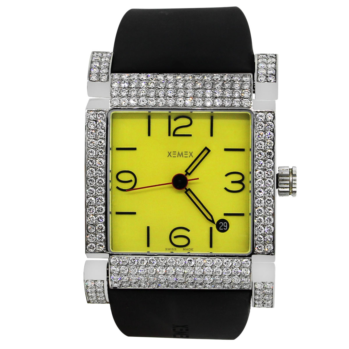 "Image of ""Xemex Stainless Steel / Rubber 4.50ct Diamond Automatic 32mm Unisex"""
