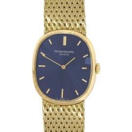 Patek Philippe Ellipse 3748/1 18K Yellow Gold Blue Dial 27mm Womens Watch