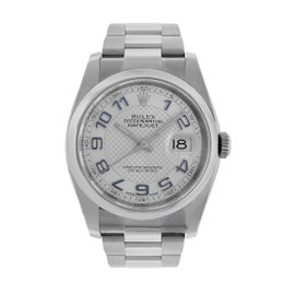 Rolex Datejust 116200 Stainless Steel Silver Dial Automatic 36mm Mens Watch