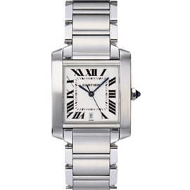 Cartier Tank Francaise Automatic Steel Large Mens Watch W51002Q3