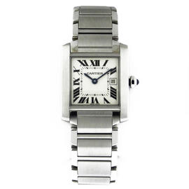 Cartier Tank Francaise Medium Stainless Steel 30.4mm Watch