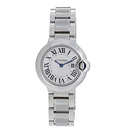 Cartier Ballon Bleu 28mm w69010z4 Stainless Steel Quartz Watch
