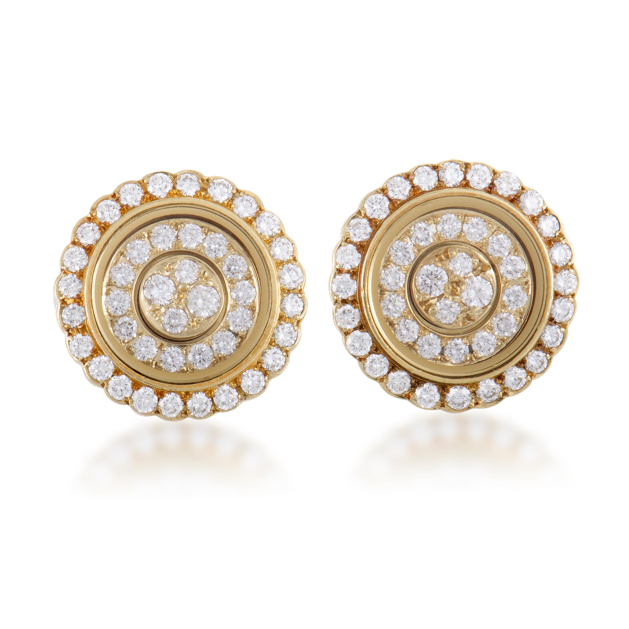 "Image of ""Waltham 18K Yellow Gold Diamond Screw Back Earrings"""
