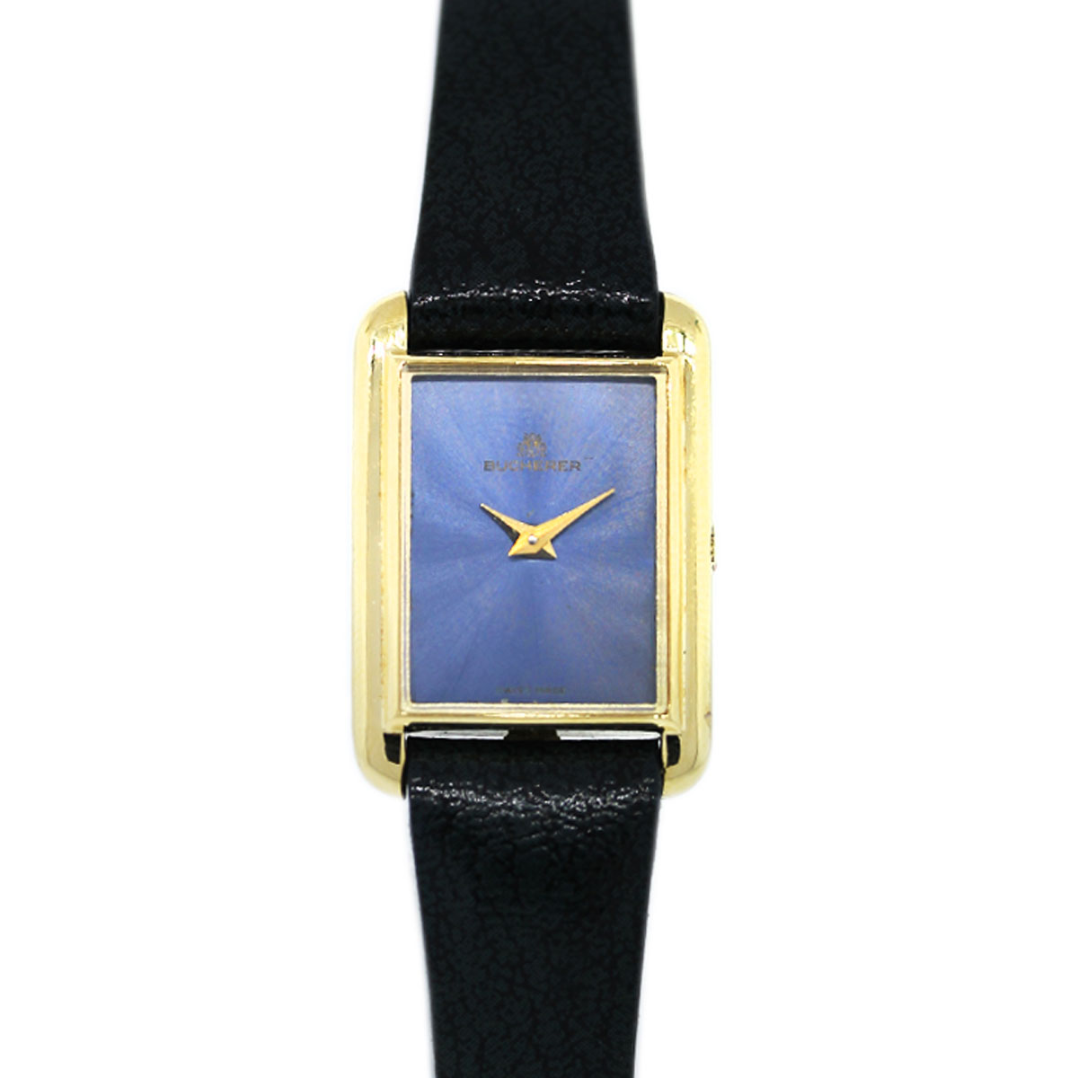 "Image of ""Bucherer Tank 18K Yellow Gold Vintage 18mm Womens Watch"""