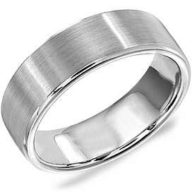 "Image of ""Crown Ring White Gold Mens Wedding Ring Size 10"""