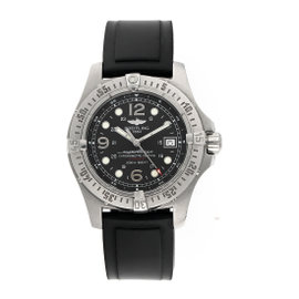 Breitling Aeromarine Superocean A17390 Stainless Steel & Rubber Automatic 44mm Mens Watch