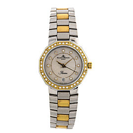 Baume & Mercier Riviera Ladies Yellow Gold & Steel Two Tone MOP Diamond MOA00552 Watch