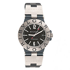 Bulgari Diagono TI38TA Titanium Carbon Fiber Automatic 38mm Unisex Watch