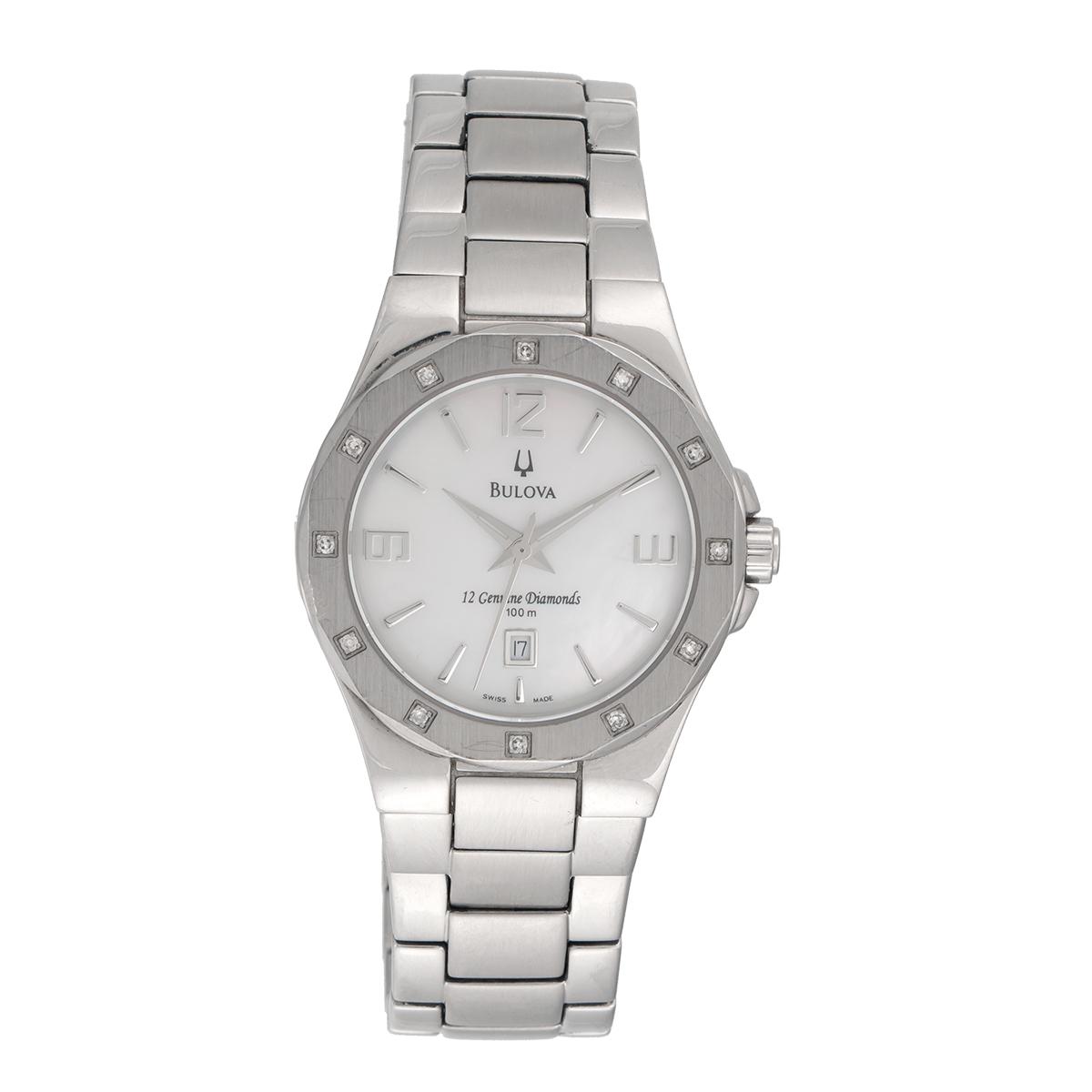 "Image of ""Bulova Stainless Steel Diamonds 32.5mm Womens Watch"""
