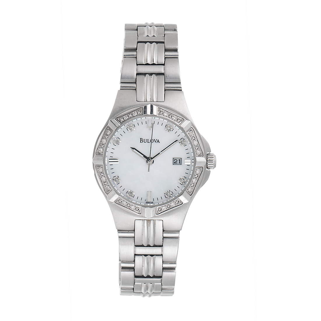 """Image of """"Bulova Stainless Steel Quartz 31mm Womens Mother of Pearl Dial and"""""""