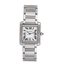 Cartier W51002Q3 Tank Francaise 2302 Steel Mens Watch