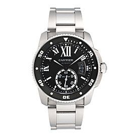Cartier Calibre de Cartier W7100057 Black Dial Stainless Steel 42mm Mens Watch