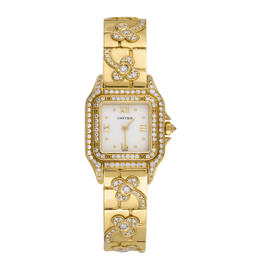Cartier Panthere 18k Yellow Gold Diamond Ladies Watch Panthere