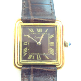 Vintage Cartier 18k Yellow Gold 25mm Watch