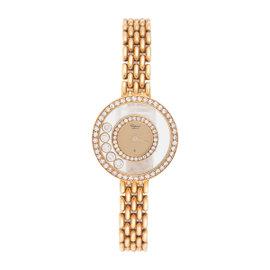 Chopard Happy Diamonds 18K Yellow Gold 23mm Womens Dress Watch