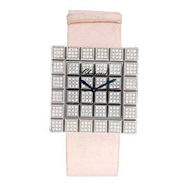 Chopard 18K White Gold Ice Cube Diamond 31.5mm Womens Watch