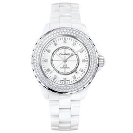 Chanel J12 Diamonds Date Ceramic 41mm Watch