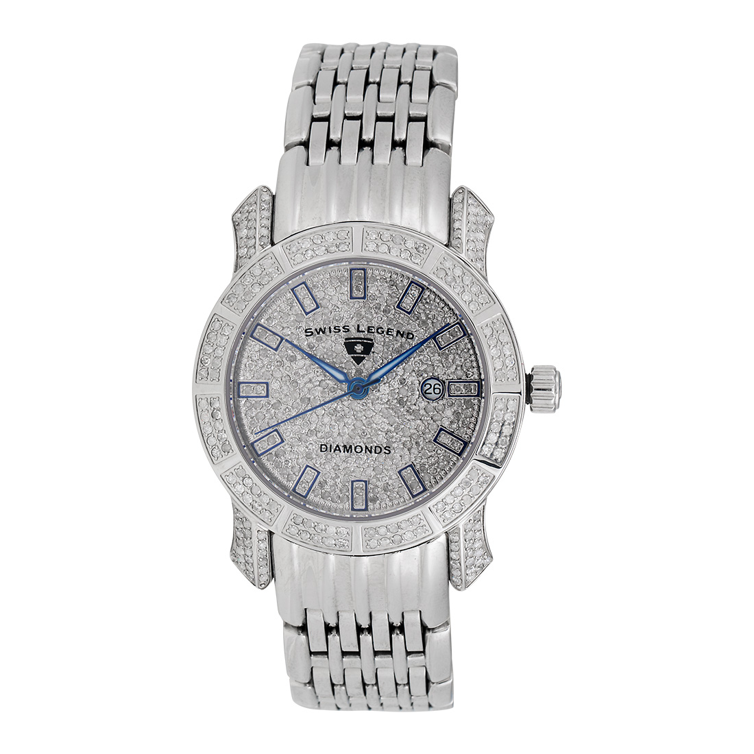 "Image of ""Swiss Legend Sl-23024F Stainless Steel & Diamond Quartz Marquise"""
