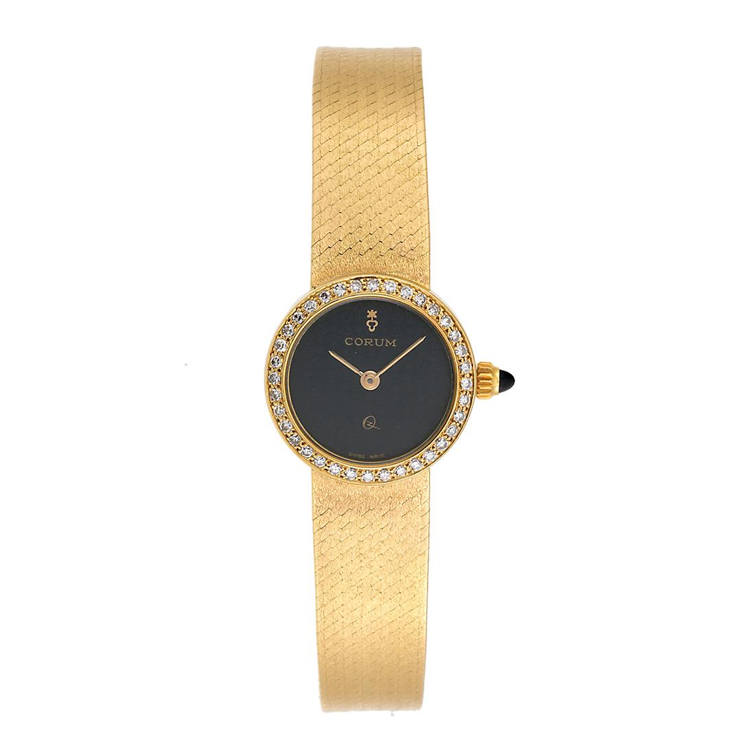 "Image of ""Corum 31823B10 18K Yellow Gold Diamond Vintage Quartz 21mm Womens"""