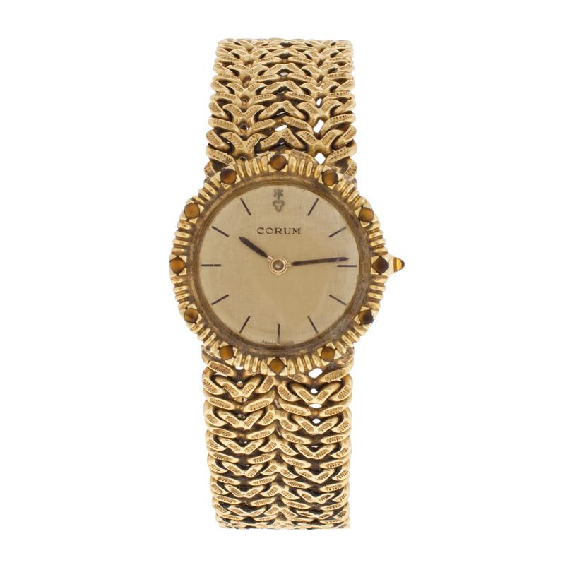 "Image of ""Corum 18K Yellow Gold Vintage Quartz 25mm Dress Watch"""