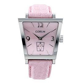 Corum Trapeze 106.404.20 Pink Steel Diamond Quartz 40mm Womens Watch