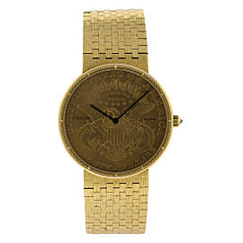 Corum 18k Yellow Gold $20 Coin Watch